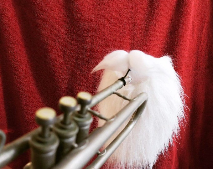 Clip-on Santa Beard for Brass mouthpieces. Trumpet, Trombone, Euphonium, Baritone, French Horn, Tuba
