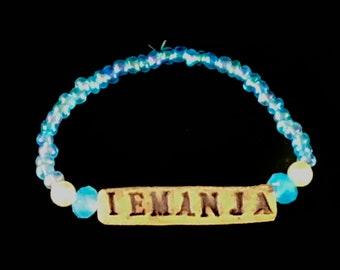 Iemanja Bracelet//Yemaya//Yoruba//IFA//Umbanda//Santeria//Orixá//Orisha