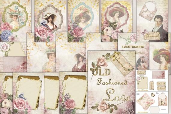 Images  Instant Digital Download  Retro FL Collage Sheets  Shabby Junk Journal Kit  Antique Scrapbook Vintage FLORIDA Ephemera  50