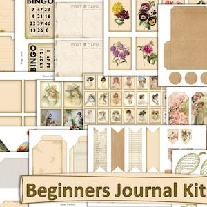 Vintage Rulers Journal Kit Backgrounds Wooden Rulers Digital Download