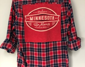Minnesota Golden Gophers Upcycled Flannel