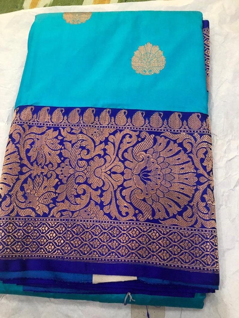 0cb5fcb577 Pure Banarasi Silk Saree / Banarasi saree / pure banaras silk | Etsy