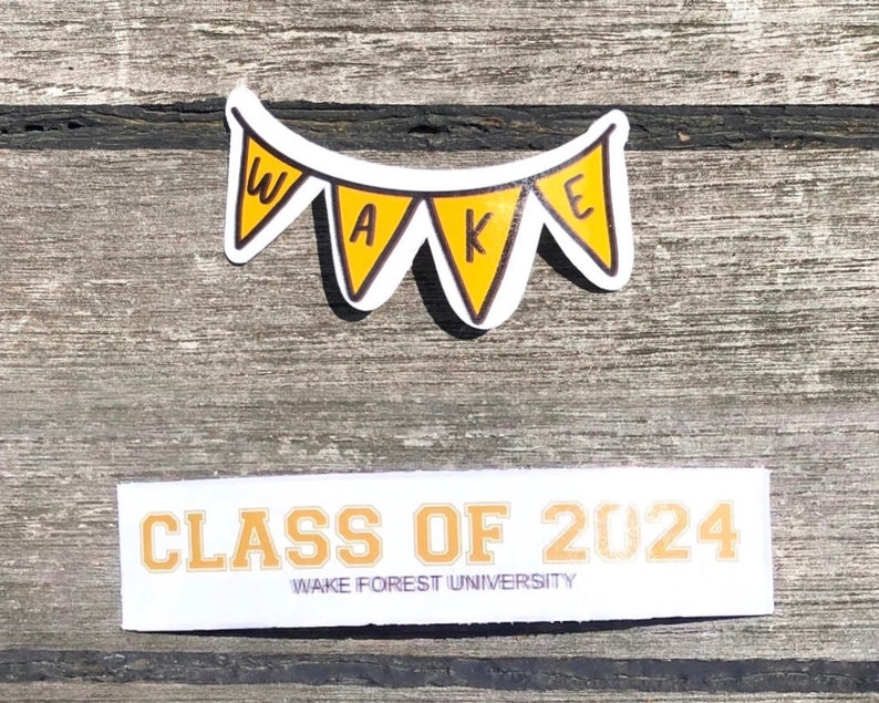 Wake Forest University Inspired Stickers \u2022 Pack 10 pc \u2022 Waterproof \u2022 Waterbottle Stickers \u2022 college student stickers \u2022 Tailgate stickers