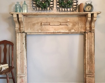 Fabulous Antique Fireplace Mantel Etsy Interior Design Ideas Oxytryabchikinfo