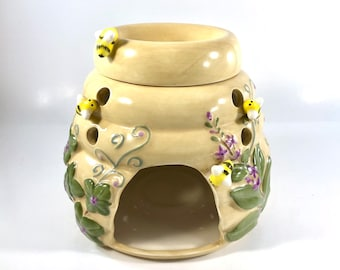 Yellow BEE HIVE CERAMIC MELT WARMERS