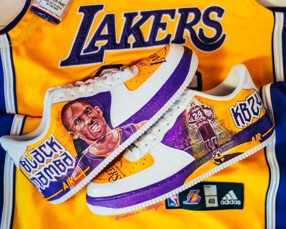 Kobe Bryant custom painted Nike Air