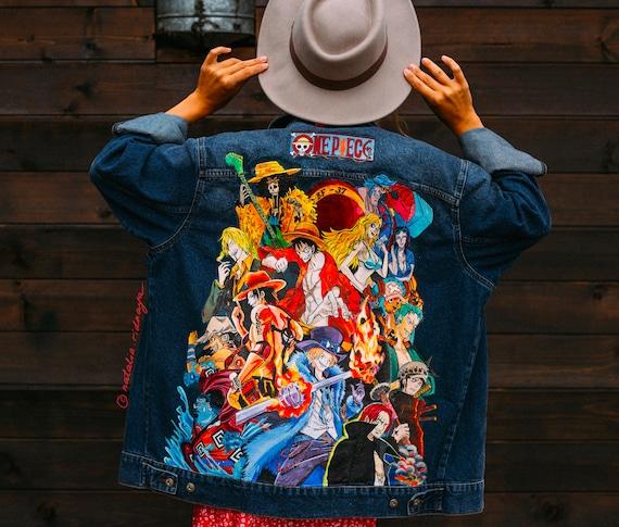 Custom denim jacket with Akira Hand painted jacket men/'s Denim painting Customized denim jacket Anime art on clothes