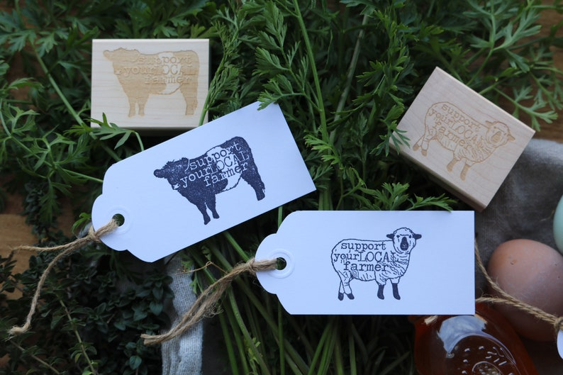 Farming Stamp Sheep Support Your Local Farmer Rubber Stamp Sheep Stamp Sheep Farmer Stamp Local Farmer Stamp Egg Carton Stamp