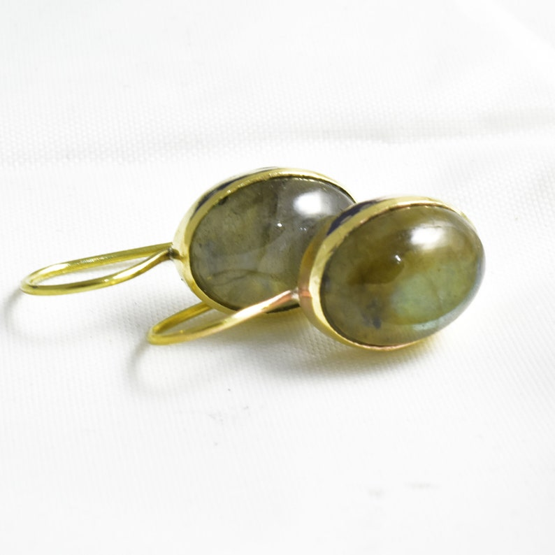 Silver Labradorite Earring,Silver Lever Back Earring,Stone Lever Back Earwire,Minimalist Earring,Mother/'s Gift,Handmade Lever Back Earring