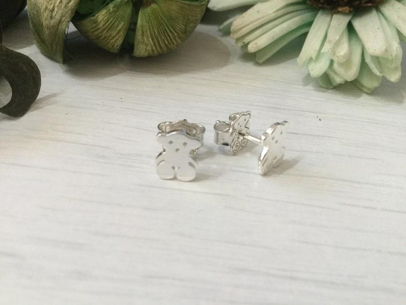 7486f91cb651 Aretes TOUS Bear de Plata STERLING Silver earrings originales