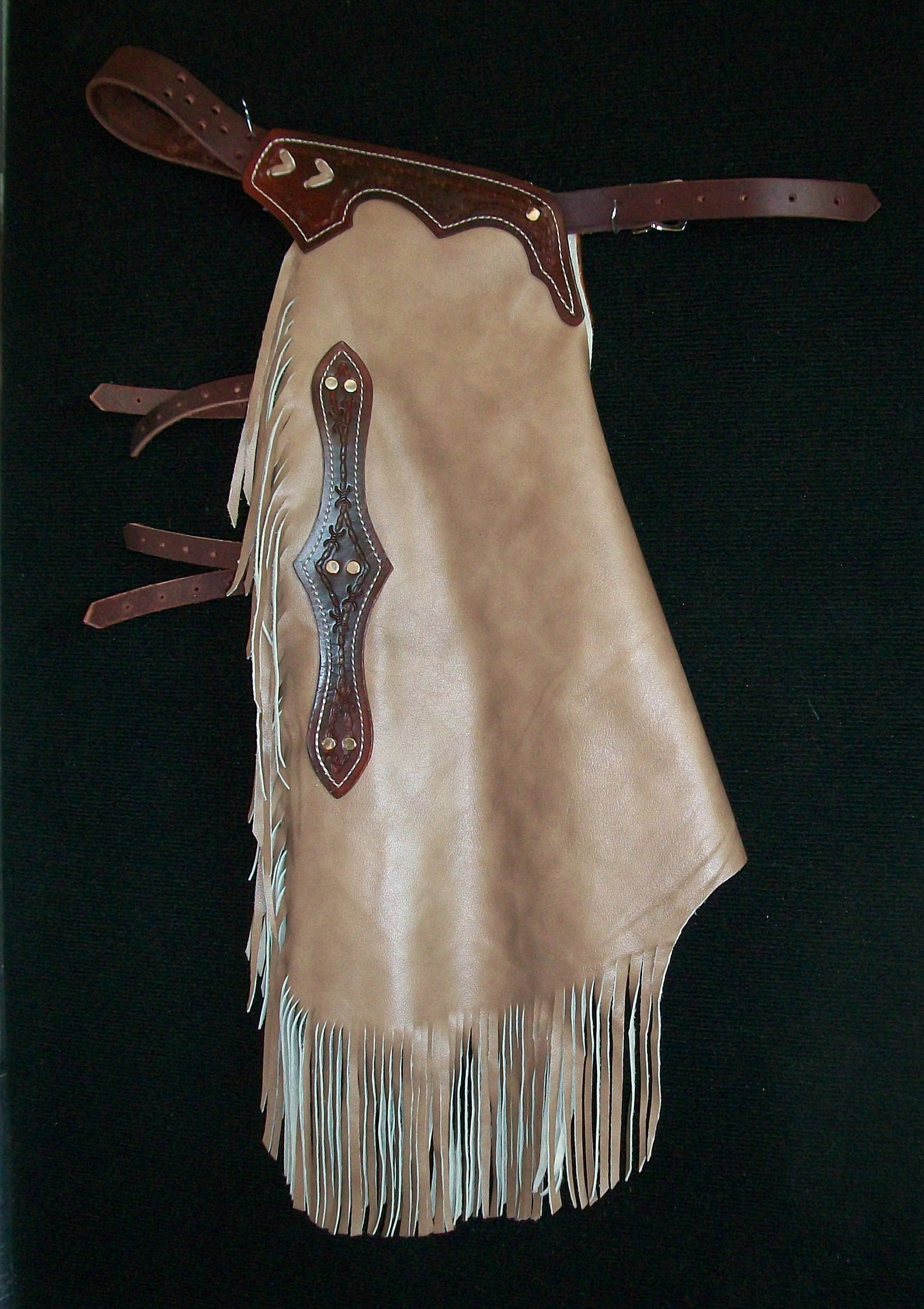Custom Made Leather Chinks/New Chaps/Distressed/R Bar K