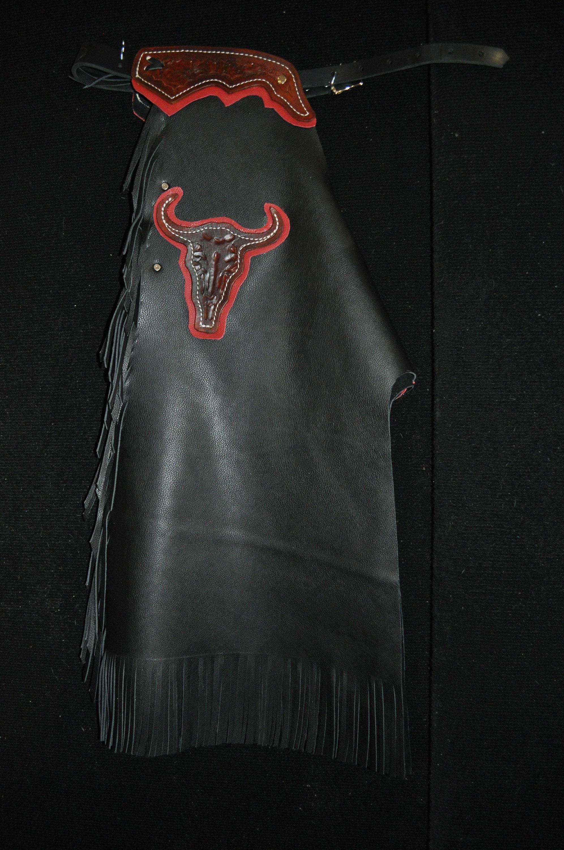 Custom Made Kid's Bronc/Bull Riding Chaps/ New/ Custom Leather/ Rodeo Chaps/R Bar K