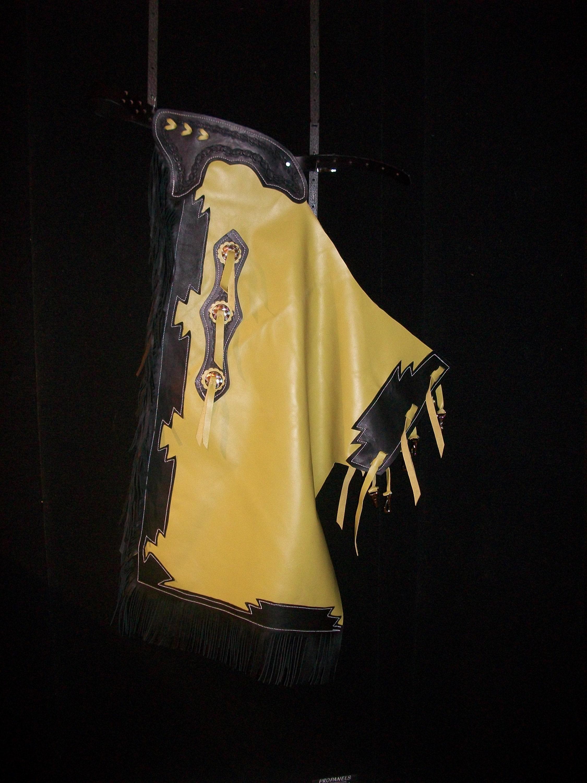 Custom Made Kid's Bronc/ Bull Rider's Chaps/ New/ Custom Leather/ Rodeo Chaps/R Bar K