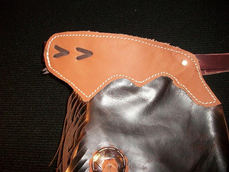 Custom Made Leather Kids ChinksNewR Bar K