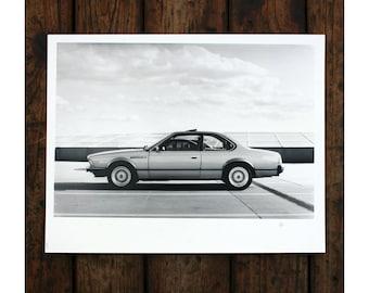 """BMW E34 - 10x12"""" art print (24x30cm)"""