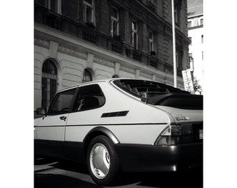 """Saab 900 Turbo Art Print 30x40cm (12x16"""")"""