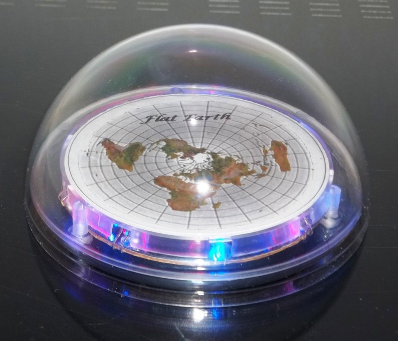 Flat Earth Map LED Light Up Dome Display Model | Etsy