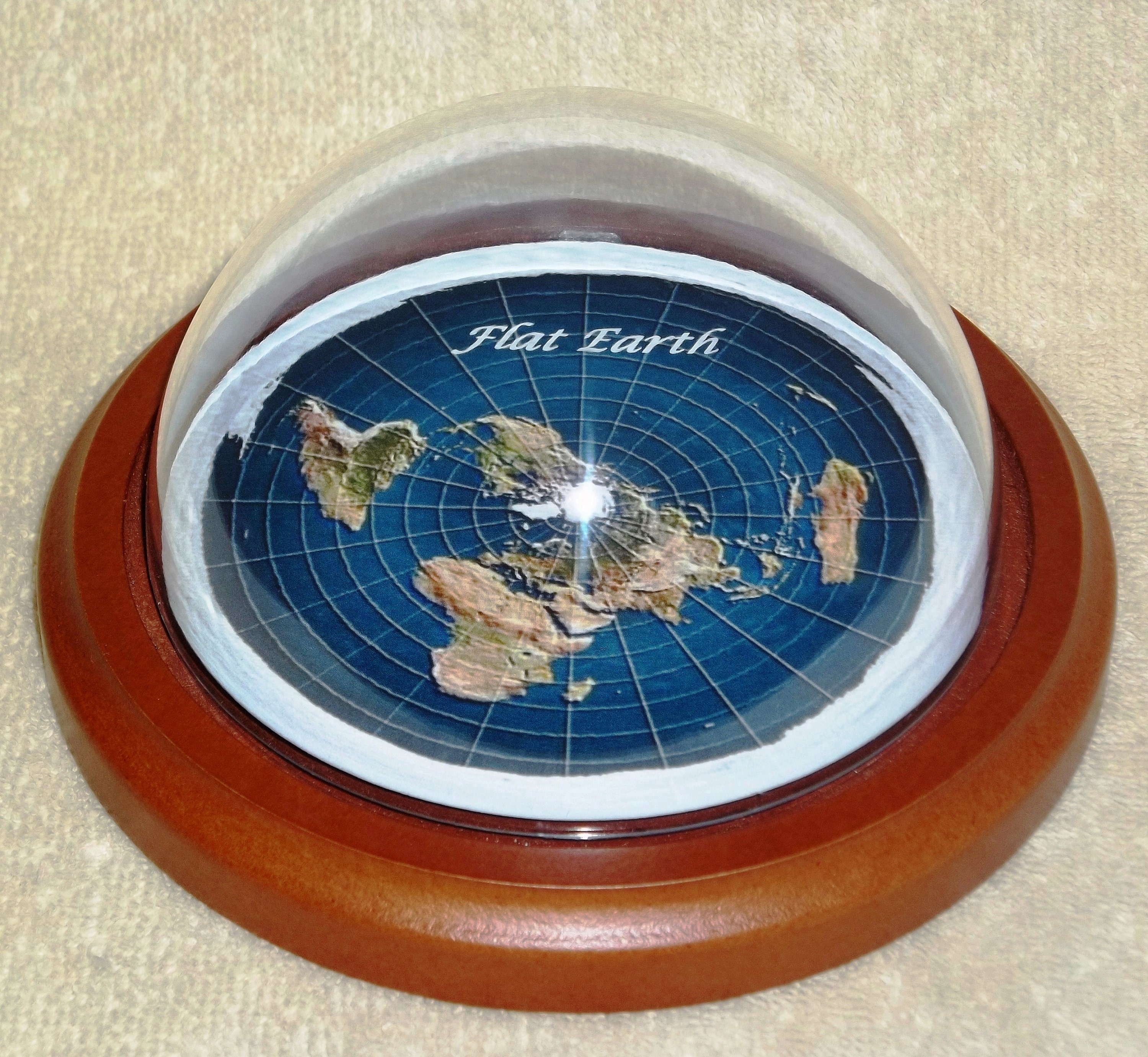 Official Flat Earth Map.Flat Earth Map Dome Display Model Wood Base Clear Plastic Etsy