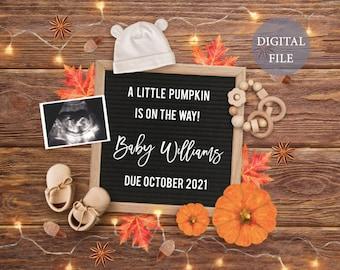 pregnancy announcement digital
