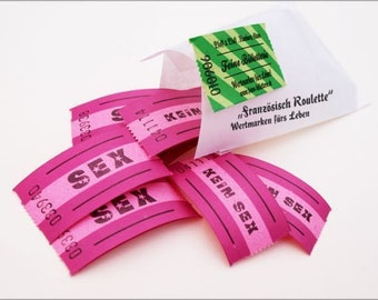 Lucky ticket set FRENCH ROULETTE, 10 tickets...