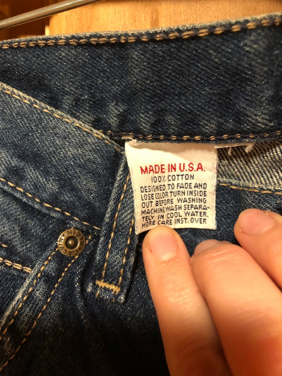 "1980's Vintage Calvin Klein Women's Jeans 30"" Mad… - image 7"