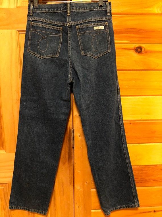 "1980's Vintage Calvin Klein Women's Jeans 30"" Mad… - image 1"