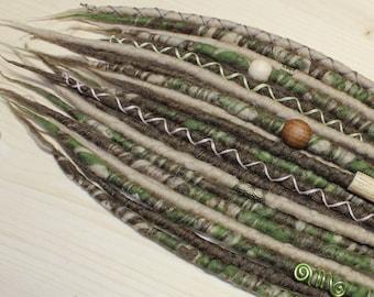 DE Merino Wool Dreadlocks, Wool Dreads, Forest dreads, Mookley Dreadlocks