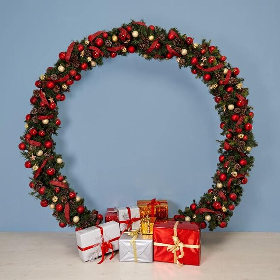 Christmas Circle Arch Christmas Decorations Christmas Garland Holiday Decor Outdoor Christmas Backdrop