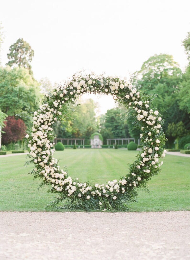 6 9ft Sircle Wedding Arch Wedding Backdrop Flower Wedding Etsy