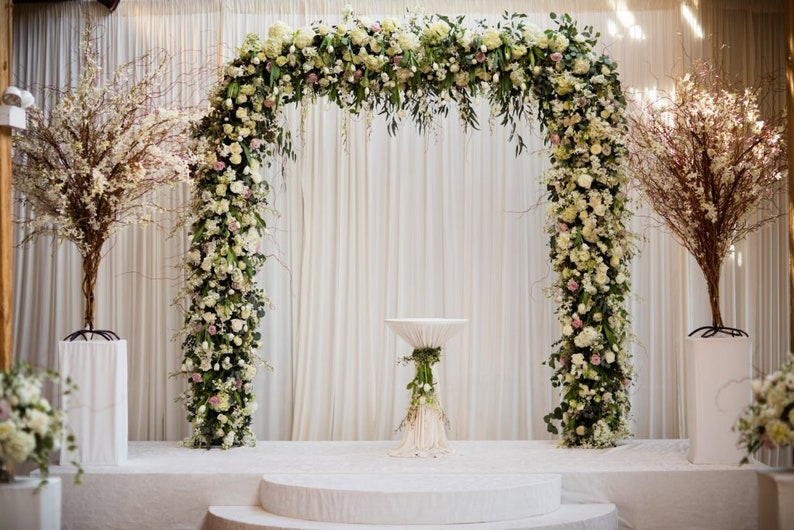 Floral Wedding Arch Wedding Decor Metal Wedding Arch Ceremony Etsy