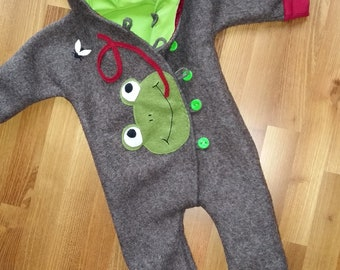 126a321637 Walk Jumpsuit with Frog application