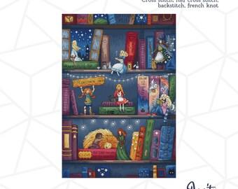 Fight like a Girl Cross Stitch PDF Pattern Fairytale Girl Book