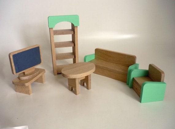 Miniatuur Design Meubels : Miniatuur woonkamer meubels ingesteld mini meubilair etsy