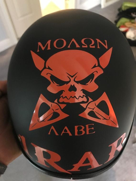Motorrad Helm Aufkleber