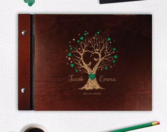 Gästebuch aus Maulbeerbaum Papier braun Hochzeitsbuch Hochzeit Album