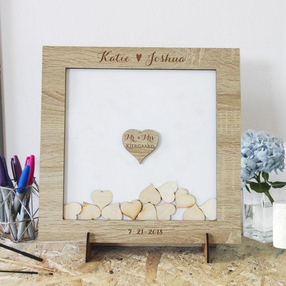 Alternative Aquarell Holz Drop Box Hochzeit Taufe Geburtstag Baby Shower Alternative Wood Gift