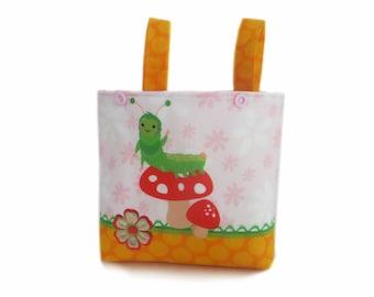 Handlebar Bag Child Balance Bike Bicycle Basket Caterpillar Apple yellow balance bike basket Apple handlebar bag