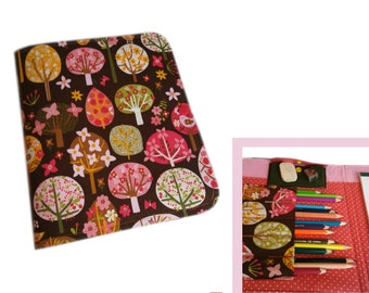 painting folder for on the go children creative set pens block book drawing book travel case travel game flowers