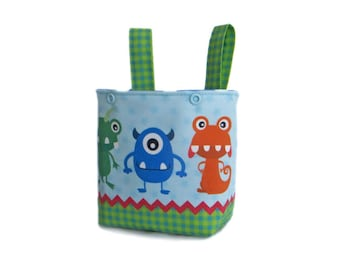 Handlebar Bag Bicycle Basket Balance Bike Bag Puky Basket Gift Child Monster balance bike basket alien handlebar bag