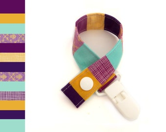 Pacifier ribbon pacifier chain cotton easy washable gift baby adapter pacifier clip