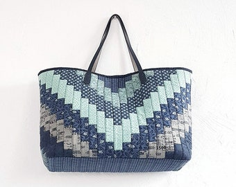451565706536 NO.3 INDIGO Shopper Patchwork Big Bag Quilt PATTERN