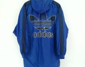 dcd7e21b3ce2 Vintage 90s Adidas Jacket Trefoil Big Logo