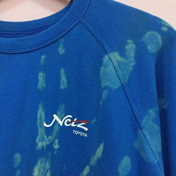 Vintage toyota sweatshirt bleach wash custom - image 4