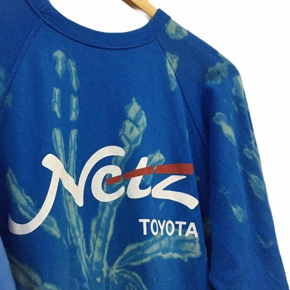Vintage toyota sweatshirt bleach wash custom - image 6