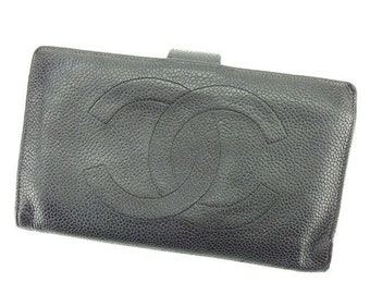 a7be3a1985f831 Chanel vintage black leather wallet