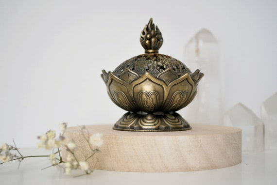 Brûleur d'encens en forme de lotus | Etsy
