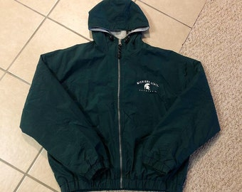 Vintage MSU Front & Back Zip-Up Jacket