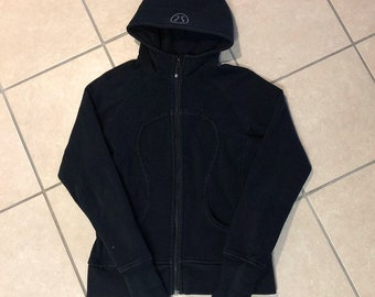 Black Lululemon Scuba Zip-Up Hoodie
