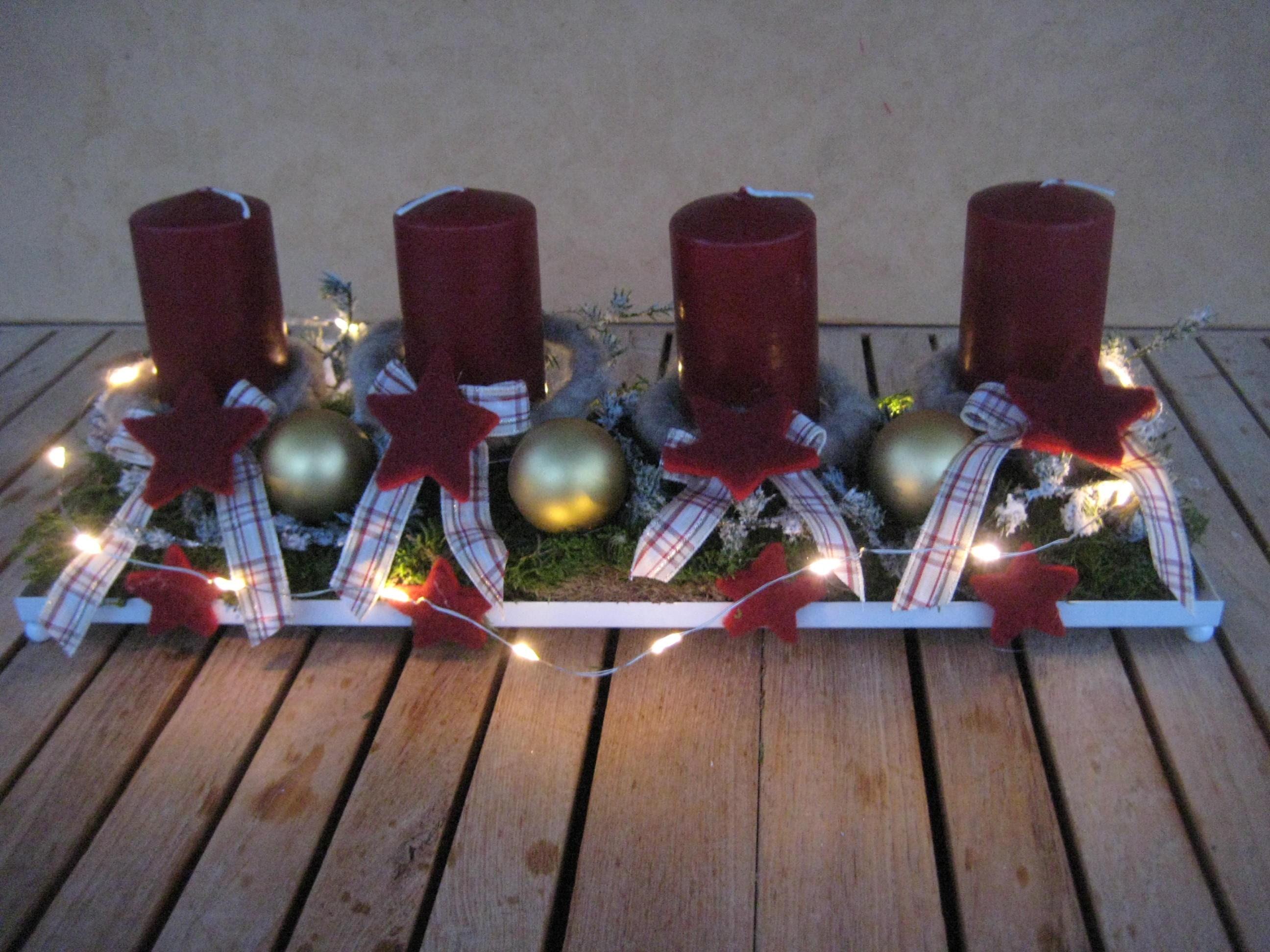 wiederverwendbarer led adventskranz mit kerzen weihnachten. Black Bedroom Furniture Sets. Home Design Ideas