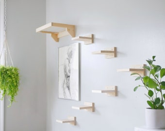 klättra Forest Pack - Minimal Wall Mounted Cat Steps and Shelf
